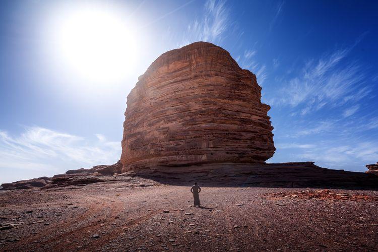 My Year My View Tabuk Saudi Arabia Exploration Exploring Mountain Blue Sky