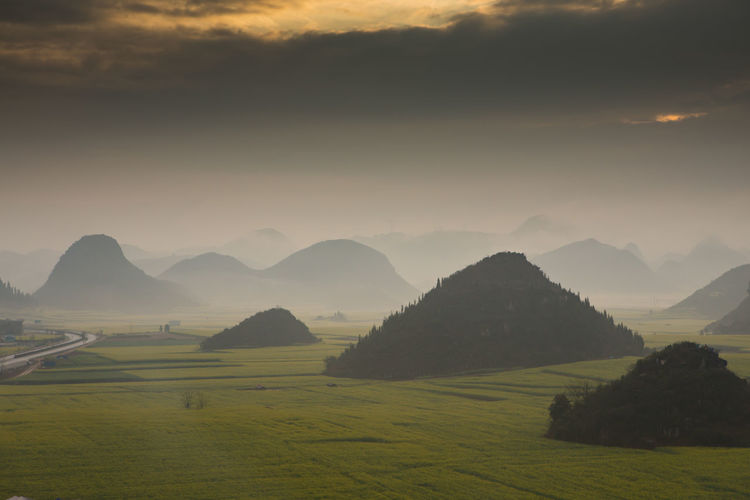 Environment Scenics - Nature Tranquil Scene Landscape Beauty In Nature Mountain Tranquility Sky Land Nature Idyllic Field Outdoors Mountain Peak