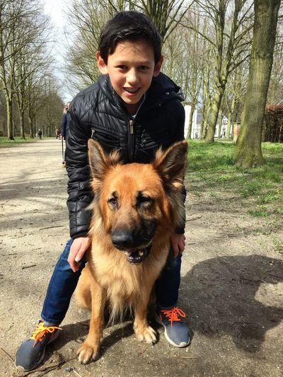 My everything! ❤️ ILOVEMYSON Ilovemydog Germanshepherd Nature Dogs
