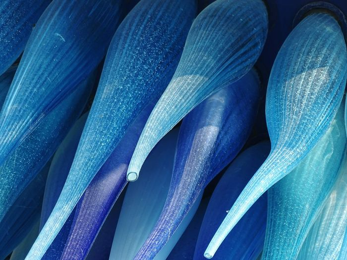 Glass - Material Muranoglass Colors Glass Abstract Art Backgrounds Blue Full Frame