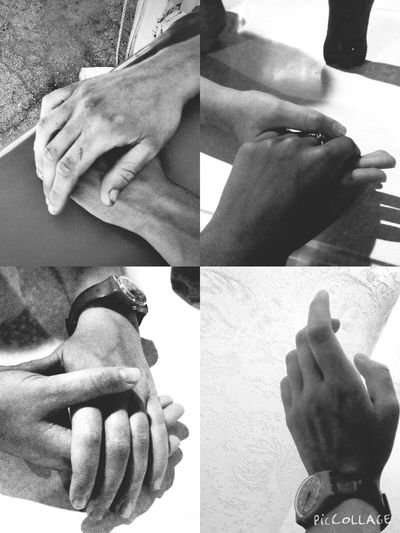I really like hands. You could think that I'm crazy, but I think hands are very beautiful