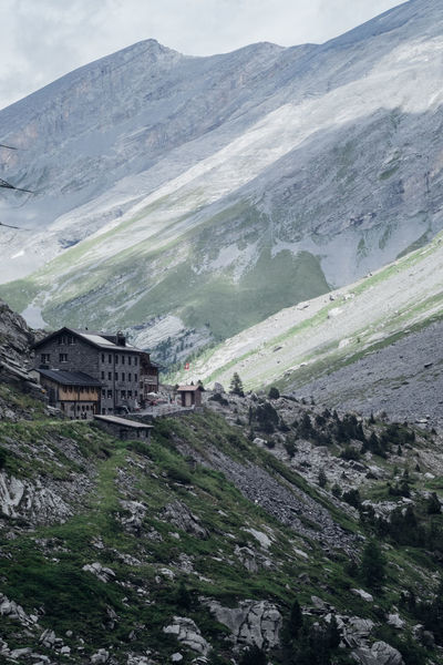 Cloudy Pass Rocky Berggasthausächer Building Exterior Fog Landscape Mountain Mountains Nature Outdoors Switzerland