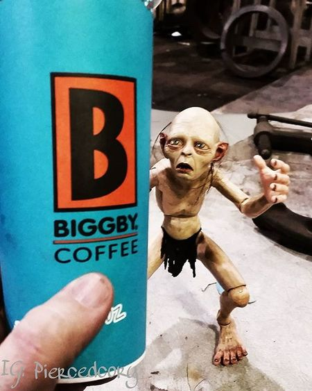 How I feel when I'm broke and a friend brings me my favorite biggby drink. Biggbyleonardfuller Drinkbiggby Biggbycoffeeismyhappyplace Gollum Smeagol Coffeeordeath Coffee