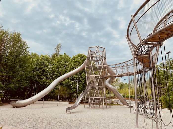 Park - Man Made Space No People Outdoors Park Nature Plant Moscow Park Gorkogo Gorky Park Playground Architecture Metal Built Structure Jungle Gym Amusement Park Ride Outdoor Play Equipment Modern Architecture Modern Springtime Decadence The Mobile Photographer - 2019 EyeEm Awards