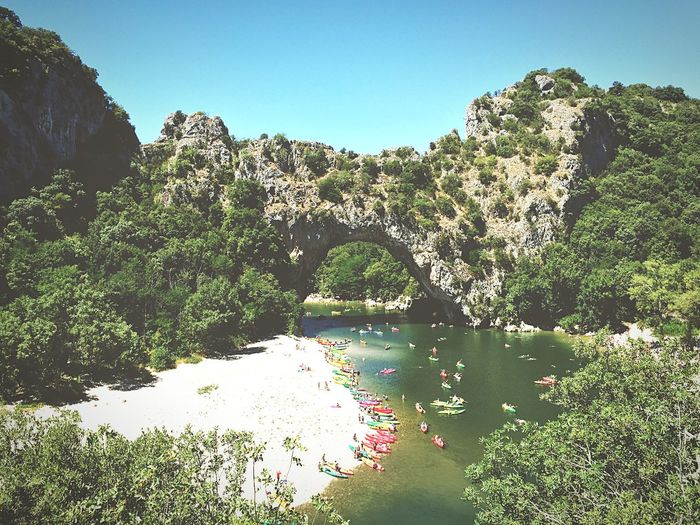 Natural bridge in France, Ardeche. Very crowded but a must see place. Taking Photos France Natural Bridge  EyeEm Nature Lover