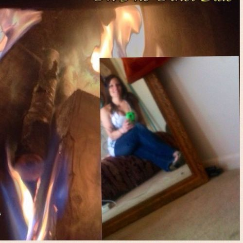 Cut And Paste Mixed Media Art Mixed Media Indoors  Home Interior Frame One Person Bedroom Young Adult People Little Rock Arkansas Brown Color Fire Flames