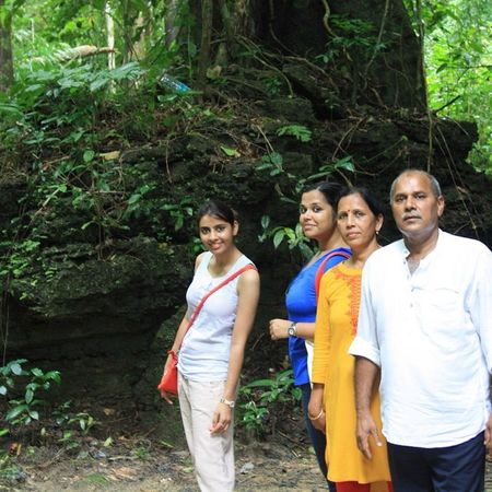 Family Andamans Baratang Limestonecaves jungle