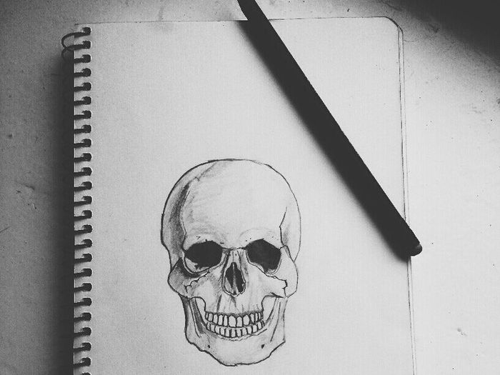 Drow Skull рисунок скелет Art арт