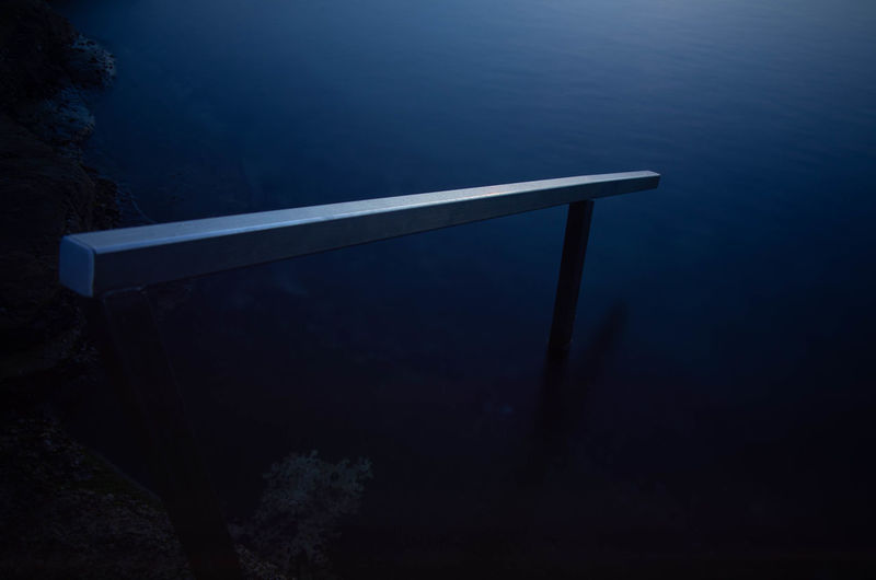 Architecture Beauty In Nature Blue Built Structure High Angle View Nature Night No People Non-urban Scene Outdoors Scenics - Nature Sea Tranquil Scene Tranquility Tree Underwater Water