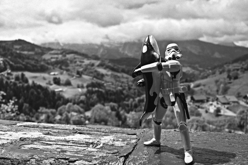 Can't explain. Just found it cute. Adventure Black And White Blackandwhite Bnw Childhood Cloud - Sky Day Figurine  Focus On Foreground Hasbro Landscape Lifestyles Mountain Orca Outdoors Sky Star Wars Texture Toys Valley Wood