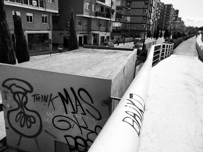 Think mas / think more Graf Graffiti Tags Streetphotography Blackandwhitephotography Blackandwhite Bnw_life Bnw_maniac Monochrome Bnw