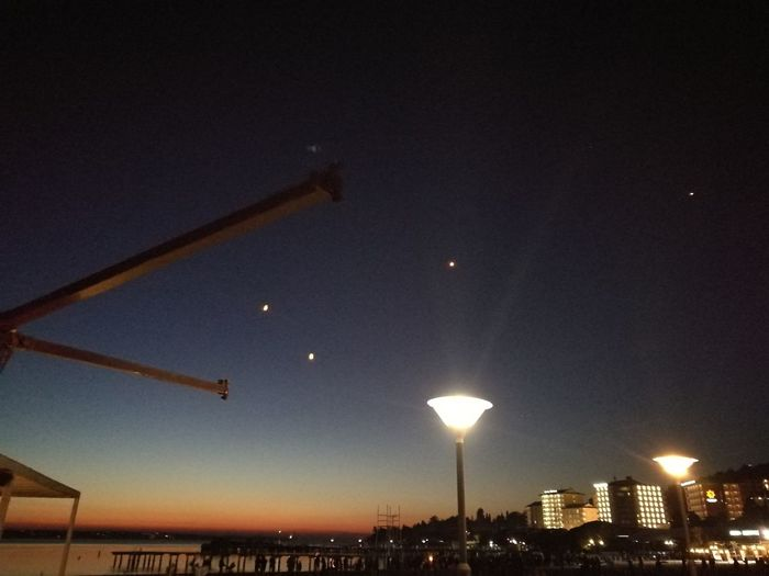 Portoroz Portoroz By Night Nature Sky Night Low Angle View No People Outdoors Built Structure Moon Astronomy Illuminated Star - Space