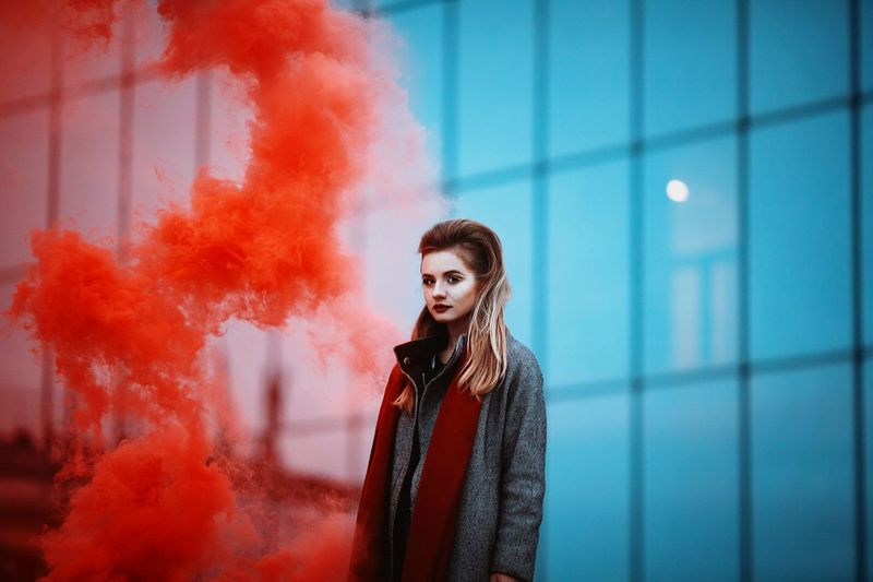 Red Adult Only Women One Woman Only One Person Adults Only Young Adult Fashion Stories EyeEmNewHere Modern Workplace Culture Moving Around Rome Visual Creativity