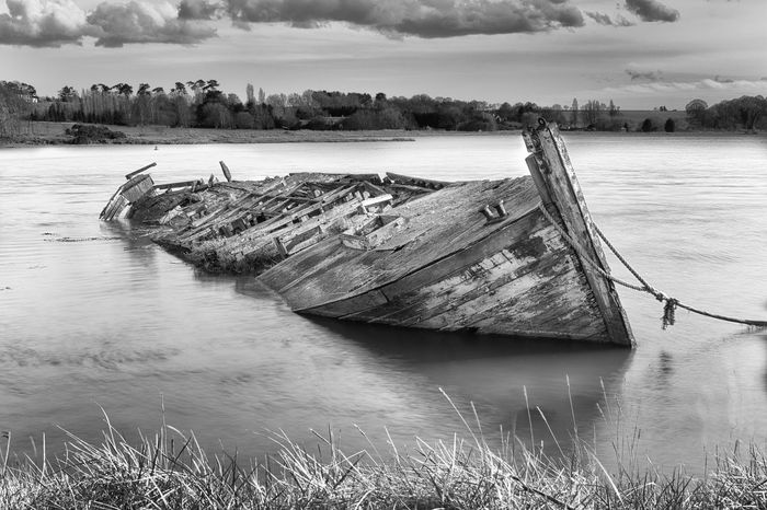 Final Resting Place Boat Decaying Boat Final Resting Place River Deben Riverbank Rotting Shipwrecked Suffolk Woodrot Wrecked Boat. First Eyeem Photo EyeEmNewHere