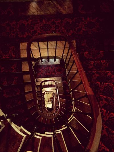 Staircase Steps And Staircases Railing Steps Built Structure Spiral High Angle View Spiral Stairs No People Indoors  Paris Old Buildings Oldtimer Nostalgic