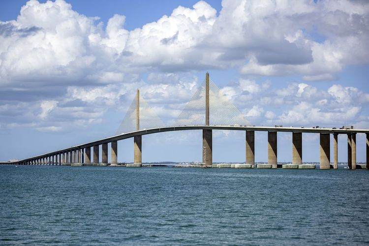 Connection Bridge - Man Made Structure Cloud - Sky Sky Architecture Built Structure Day Beauty In Nature Outdoors Nature Water Scenics No People
