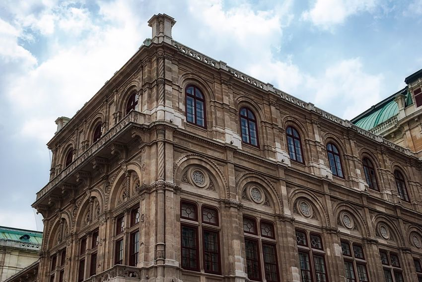 Vienna State Opera Architecture Opera House Low Angle View Building Exterior History Culture Music EyeEm No People Outdoors Built Structure Day Art Is Everywhere