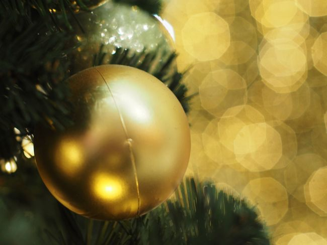 Christmas Celebration Decoration Christmas Decoration Holiday Christmas Ornament Close-up Sphere Tree No People Shiny christmas tree Gold Colored Shape Celebration Event Holiday - Event Focus On Foreground Event Still Life Silver Colored