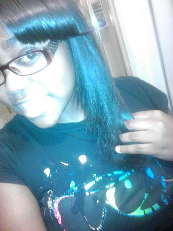 in the process of straightn my hair