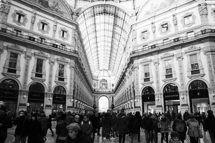 People At Galleria Vittorio Emanuele Ii
