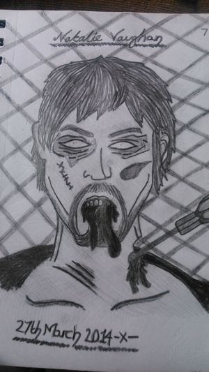 Daryl Dixon Zombie My Drawing