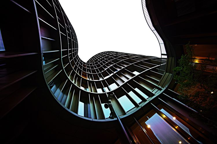 Tadaa Friends Architecture Built Structure Modern Low Angle View No People Day Indoors  Sky Axeltowers Copenhagen