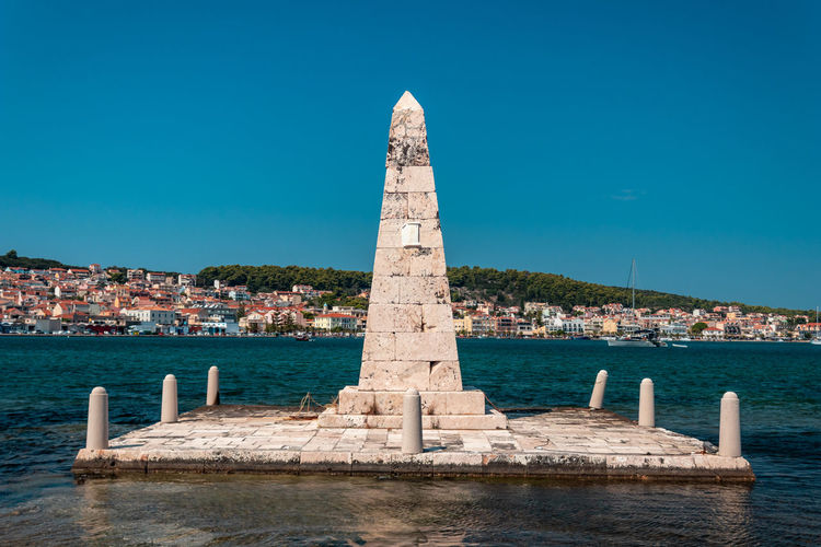 Monument inside the sea Architecture Built Structure Water Building Exterior Sky Nature Clear Sky Building History Travel Destinations Day The Past City Travel No People Blue Sea Tourism Outdoors
