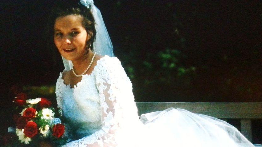 Hochzeit Brautstrauss Married Kleid Weiss Braut