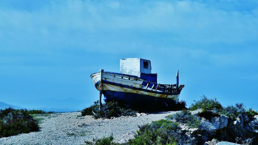 Relaxing Alicante Islandlife Island Life Tabarca's Island Boats Island Tabarca Tranquility Beach Alicante, Spain Place Of Interest Boat Fisherman Fishermen Sea Tied Boat Beachphotography Sky And Clouds Art ArtWork Artistic Tranquility Scene SPAIN Relaxing