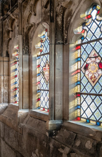 Architecture Place Of Worship Religion Spirituality Indoors  Window Day Arch History No People Medieval Glass - Material Stained Glass Ornate