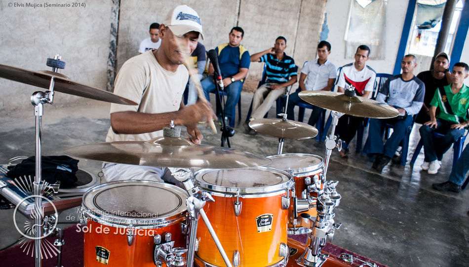 Playing at drums seminary