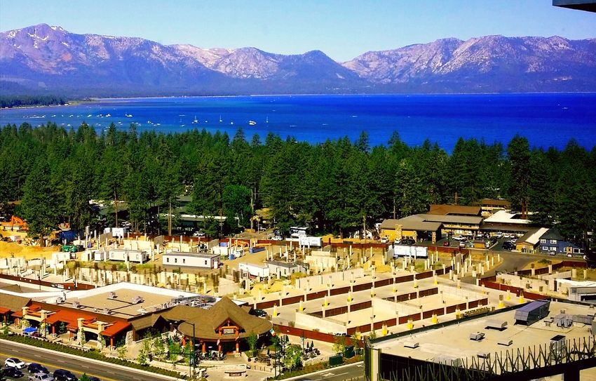 South Lake Tahoe Mountain Outdoors Scenics Lake Cityscape Nature Landscape Tree Beauty In Nature