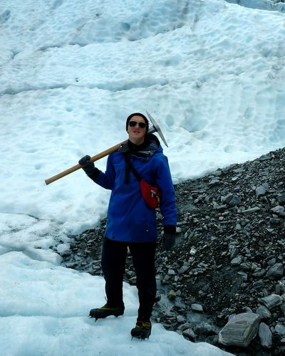 Adventure Club ring leader of snow white's dwarves. Hihohiho it's off to work we go Pickaxe Glacier Franz Josef Glacier