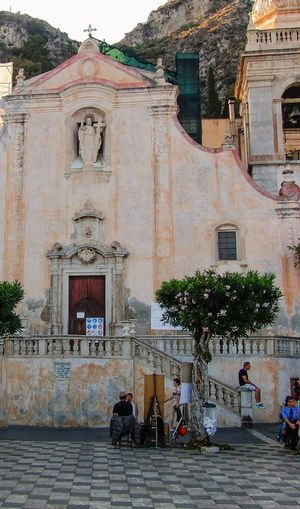 Taormina Built Structure Architecture Building Exterior Building Religion Group Of People Belief