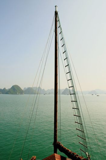 Water Boatmasts Tranquility No People Vietnam