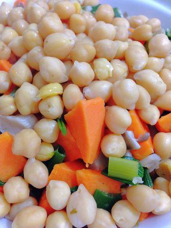 Chickpeas Sweet Potatoes Green Onion Vegetables My Dinner Healthy Food Vegetarian Food Vegan Food 365 Photos In 2015