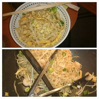 100happydays Day46 recreating happy Thailand memories! Freshly made Pad Thai!! Was almost the same as being there!! Lol! Pretty good if I do say so myself. Nopacketmix Madefromscratch