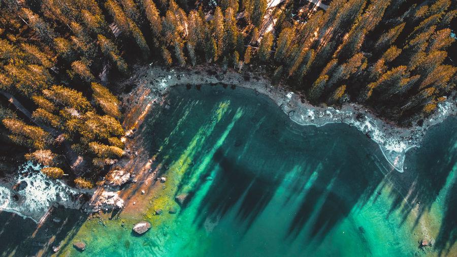 High angle view/lakes