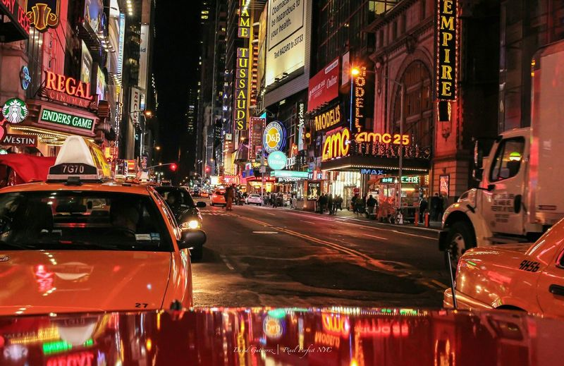 Another busy night in New York City Pixelperfectnyc David Gutierrez New York City Amazing City That Never Sleeps I Heart New York Taxi