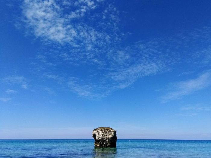 Sea Horizon Over Water Blue Water Scenics Outdoors Summer Sky Nature Tranquility Beauty In Nature No People Day Beach UnderSea Rocks And Water Vacations Sea Life Melendugno Wave Lecce Salento Puglia Clear Sky Beauty In Nature Travel Destinations