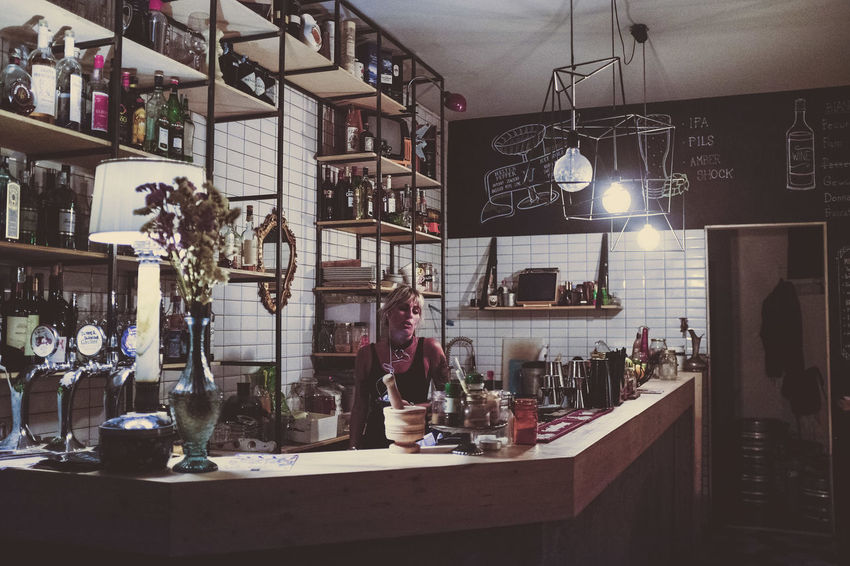 Arrangement Day Decoration Electric Lamp Hanging Out Home Illuminated Lifestyles Nightlife No People Restaurant Rome Shelf Still Life Woman