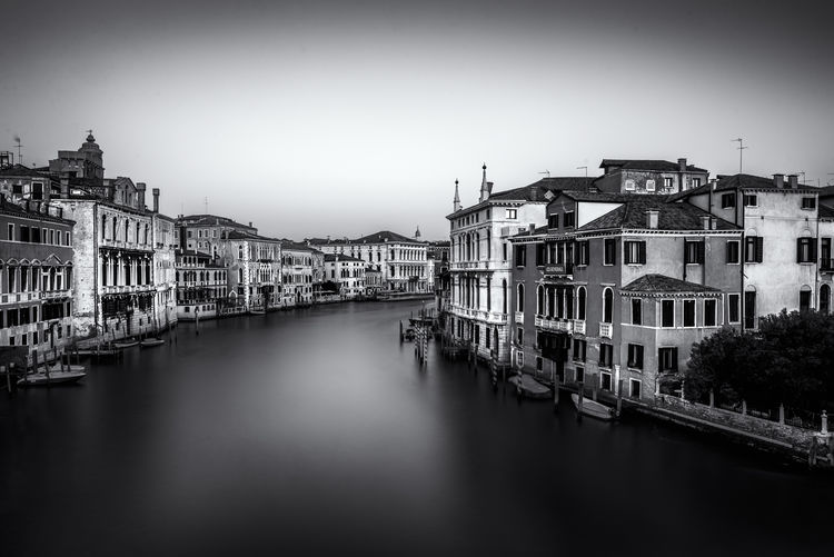 Venezia Architecture Building Exterior Built Structure Canal City Clear Sky Day Italy Nautical Vessel No People Outdoors Sky Travel Destinations Water Waterfront