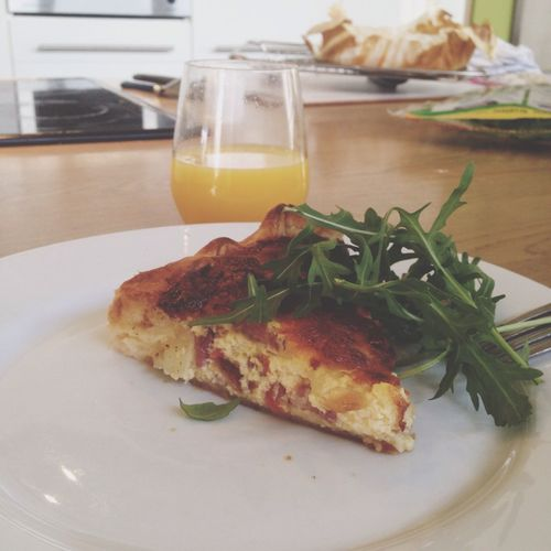 Quiche Rucola Patatoes Mozzarella Speck Cooking