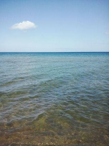 Seaside Sea And Sky Water Nature Photography Love To Take Photos ❤ Nature Summer Weather > Summer ☀ Summertime ♥ Paradise On Earth Outside Photography Summer Memories 🌄 Blue Sea...