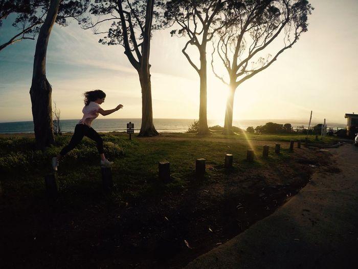 Leaping into tomorrow Santa Cruz California Northern California Sunset Youth Culture The Magic Mission