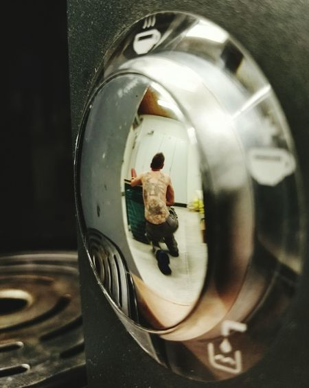 Check This Out HuaweiP8 The 00 Mission EyeEm Gallery Fine Art Photography Man With Tattoo Mirror View Into The Mirror Tattoo Life