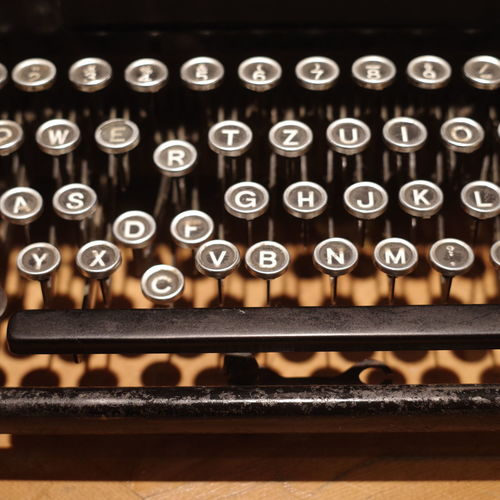 Typewriter Indoors  Antique Retro Styled No People Technology Letter Close-up Number High Angle View Alphabet Old Text Machinery Communication Metal In A Row Full Frame Backgrounds Keyboard
