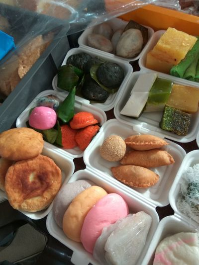 Assortedfoods Spoiled For Choice Foodporn Hungry Yet? Nyonya Food Forthesweettooth Nyonya Kueh Breakfast Colourful