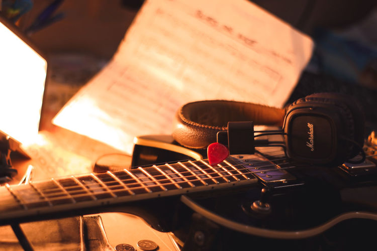 My dream Guitar Electric Guitar Musical Instrument Music Arts Culture And Entertainment Close-up Audio Equipment Record Sound Mixer Sound Recording Equipment Radio Station Producer