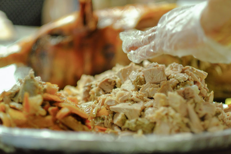 Chopped Lechon Baboy Pork Meat! Meat! Meat! Carnivore Chopped Cholesterol Feast Philippines Filipino Food EyeEmNewHere Close-up Food And Drink